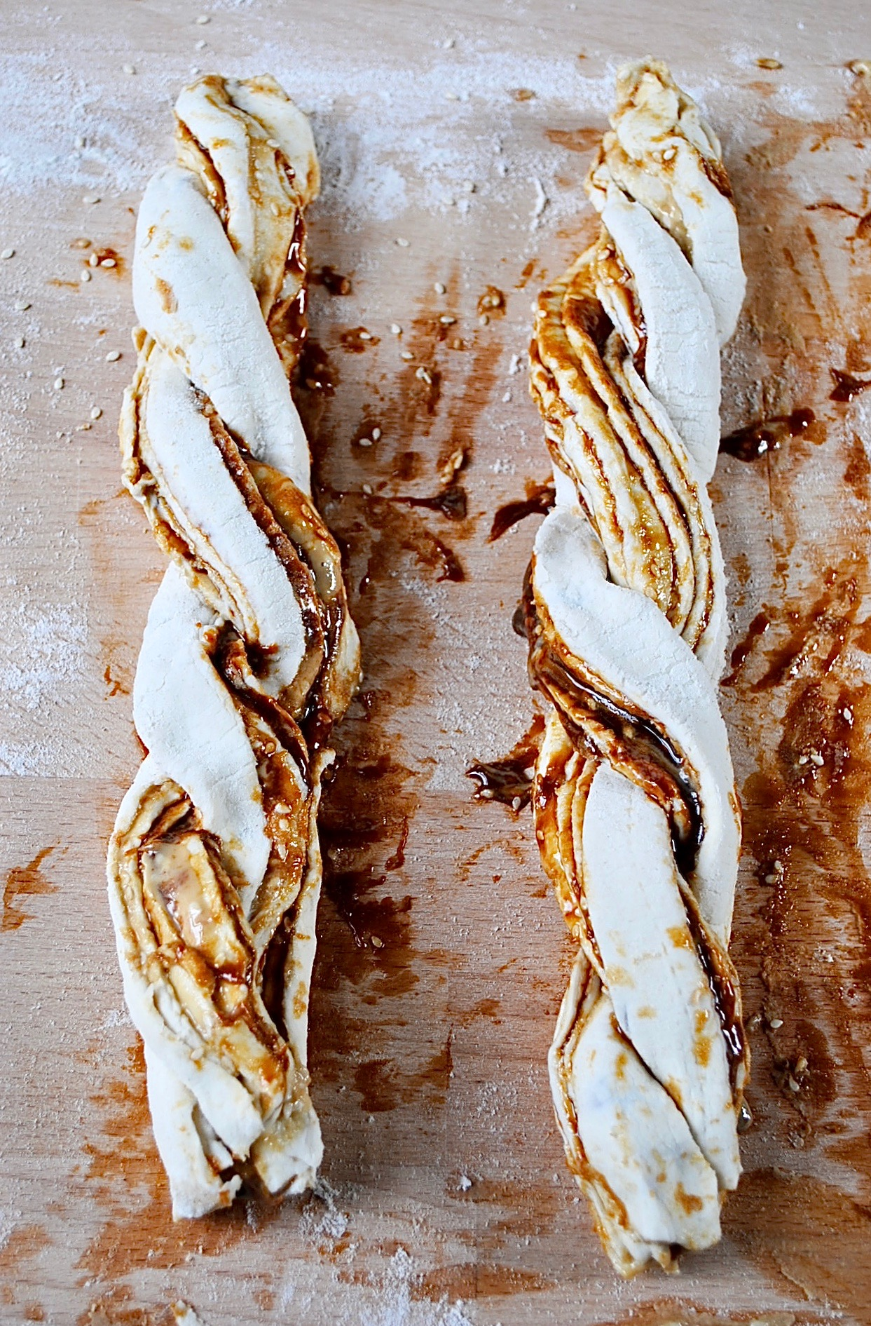 Vegan Puff Pastry Twists with Marmite and Tahini